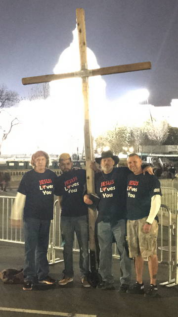 Carrying The Cross in DC During President Trump's Inaguration