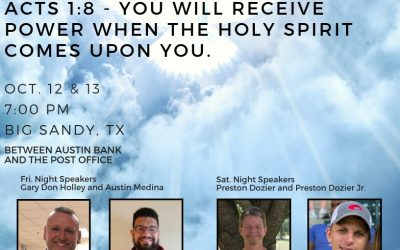 Big Sandy Tent Revival Oct 12 & 13